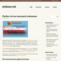 Firefox 4 et ses raccourcis méconnus