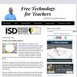 Tecnología gratuita para docentes: opciones de accesibilidad de Firefox