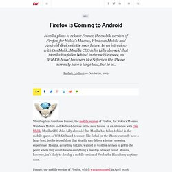Firefox is Coming to Android