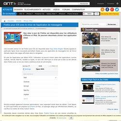 Firefox pour iOS avec le choix de l'application de messagerie