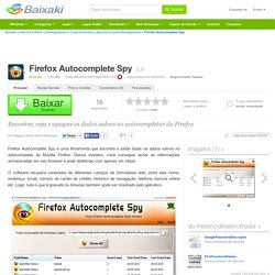 Firefox Autocomplete Spy download