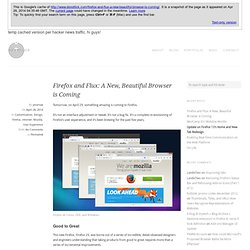 Firefox and Flux: A New, Beautiful Browser is Coming