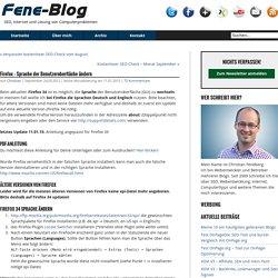 Firefox – Sprache der Benutzeroberfläche ändern « Fene-Blog
