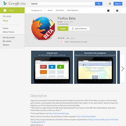 Firefox Beta - Android Market
