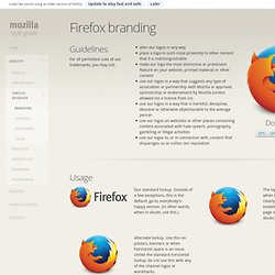 Firefox branding — Mozilla Style Guide