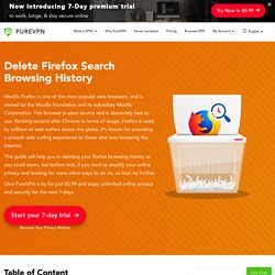 Delete Firefox Search Browsing History