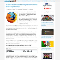 5 Cool About:Config Hacks To Make Firefox Browsing Smoother - Fl
