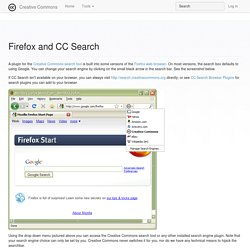Firefox and CC Search - Creative Commons