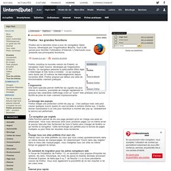 Firefox : les grandes fonctions