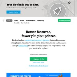 Firefox Web Browser — Plugin Check & Updates