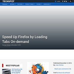 Speed Up Firefox by Loading Tabs On-demand
