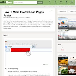 How to Make Firefox Load Pages Faster: 8 Steps
