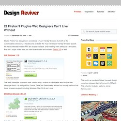 22 Firefox 3 Plugins Web Designers Can't Live Without