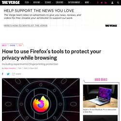 How to use Firefox's tools to protect your privacy while browsing