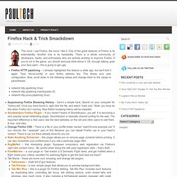 Firefox Hack &038; Trick Smackdown & Pa