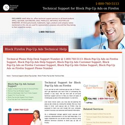 800-760-5113-Block Pop-up Ads Firefox Technical Support