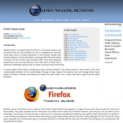 Firefox Tweak Guide