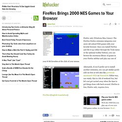 Featured Firefox Extension: FireNes Brings 2000 NES Games to Your Browser