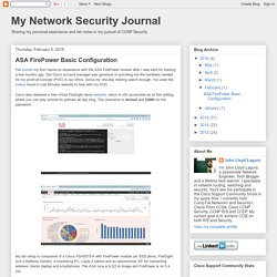 My Network Security Journal: ASA FirePower Basic Configuration