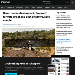 Hemp houses low-impact, fireproof, termite-proof and cost-effective, says couple