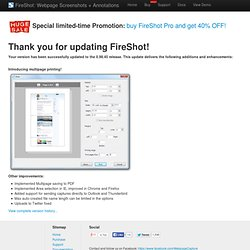 FireShot Updated to the 0.98.45 release!