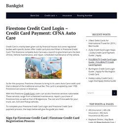 Firestone Credit Card Login – Credit Card Payment: CFNA Auto Care -