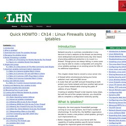 Ch14 : Linux Firewalls Using iptables