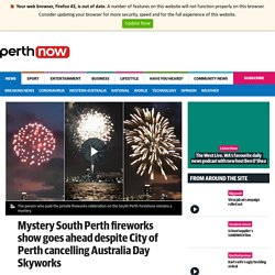 Mystery South Perth fireworks show goes ahead despite City of Perth cancelling Australia Day Skyworks