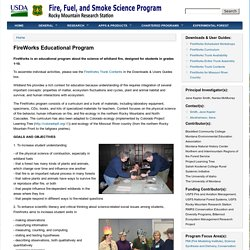 Fire, Fuel, and Smoke Science Program