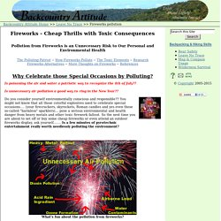 Fireworks - Cheap Thrills with Toxic Consequences