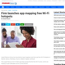 Firm launches app mapping free Wi-Fi hotspots