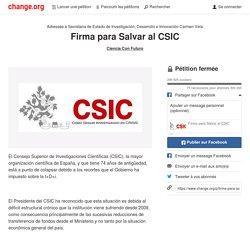.@_minecogob Comprometeos en la reunión de hoy a salvar el CSIC. Más de 240.000 lo reclaman #CienciaconFuturo