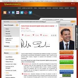 Come firmare documenti digitali senza usare lo scanner