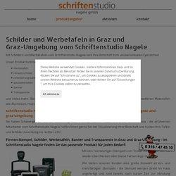 Firmenstempel, Schilder und Werbetafeln produziert in Graz