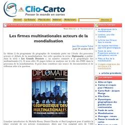 Les firmes multinationales acteurs ... - Clio-Carto