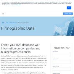 Firmographics - Data Append & Enrichment Service