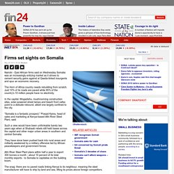 Firms set sights on Somalia