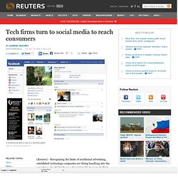 Tech firms turn to social media to reach consumers | Technology