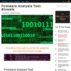 Firmware Analysis Tool: Binwalk