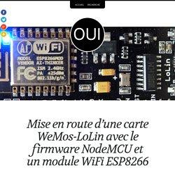 Mise en route d'une carte <em>WeMos-LoLin</em> avec le firmware NodeMCU et un module WiFi ESP8266 – OuiLogique.com