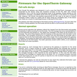 Firmware for the OpenTherm Gateway