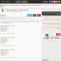 Firmware SM-G930T - Full Odin Restore