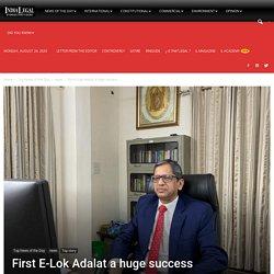 First E-Lok Adalat a huge success - India Legal