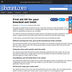 First aid kit for your knocked-out teeth