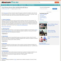 First Aid Kits - Items in a First Aid Kit - First Aid Kit Items