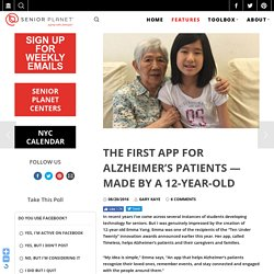 The First App for Alzheimer's Patients — Made by a 12-Year-Old