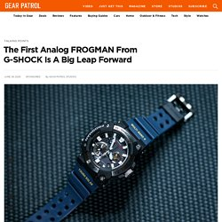 The First Analog FROGMAN From G-SHOCK Is A Big Leap Forward
