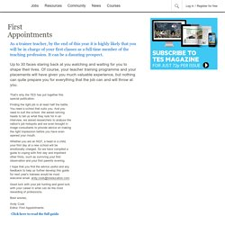 First Appointment - TES magazine