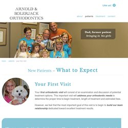 your first visit - Arnold Orthodontics