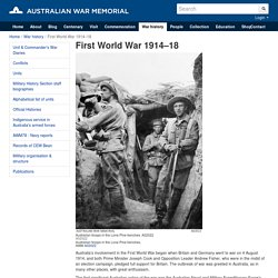 First World War 1914–18